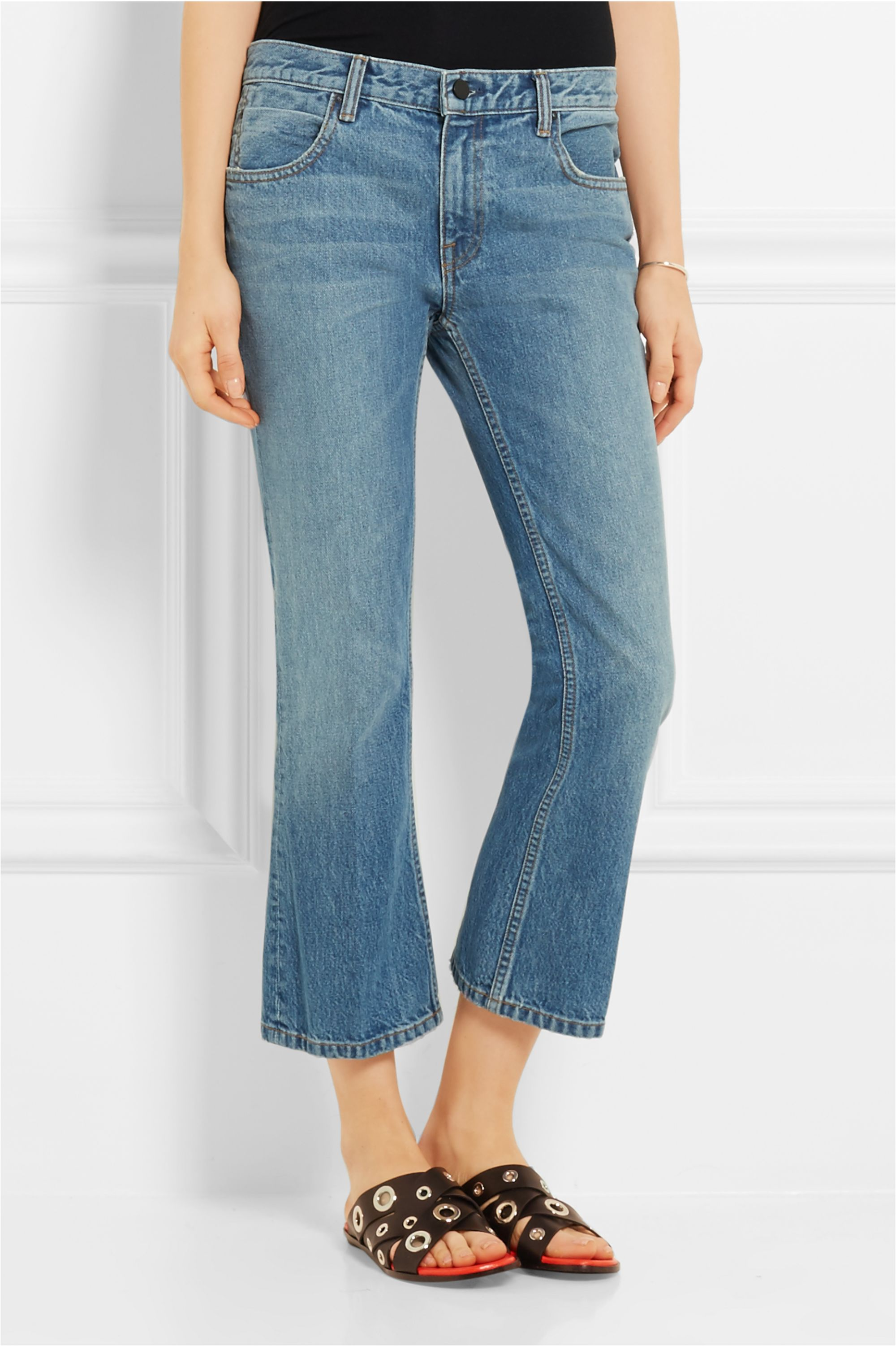 Alexander Wang Cropped mid-rise bootcut jeans