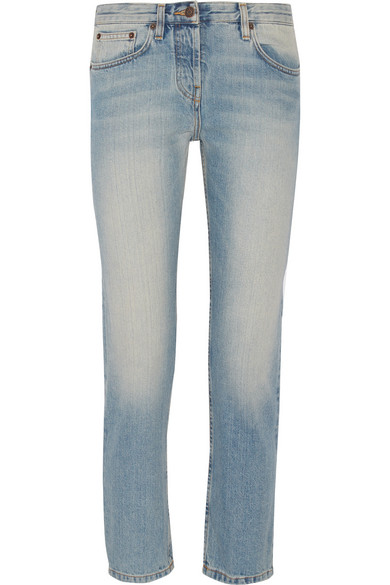 Essentials Ashland Cropped Straight-Leg Jeans in Blue
