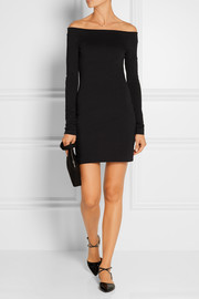 Hunting stretch modal-blend mini dress