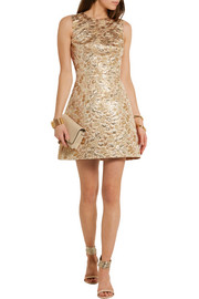 Dolce & Gabbana Metallic brocade mini dress