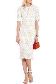 Daisy macramé lace midi dress