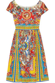 Dolce & Gabbana Carretto printed cotton-poplin dress