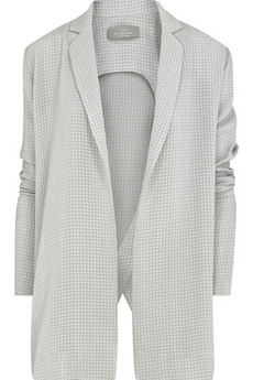 Preen|Silk-waffle drape jacket|NET-A-PORTER.COM from net-a-porter.com