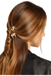 Contrasti gold-tone faux pearl hair slides
