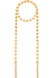 Gold-plated wrap necklace