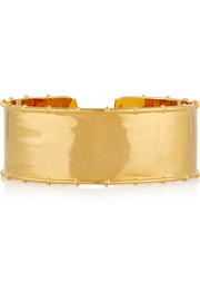 Bamboo gold-plated arm cuff