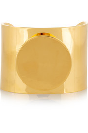 Circle gold-plated cuff