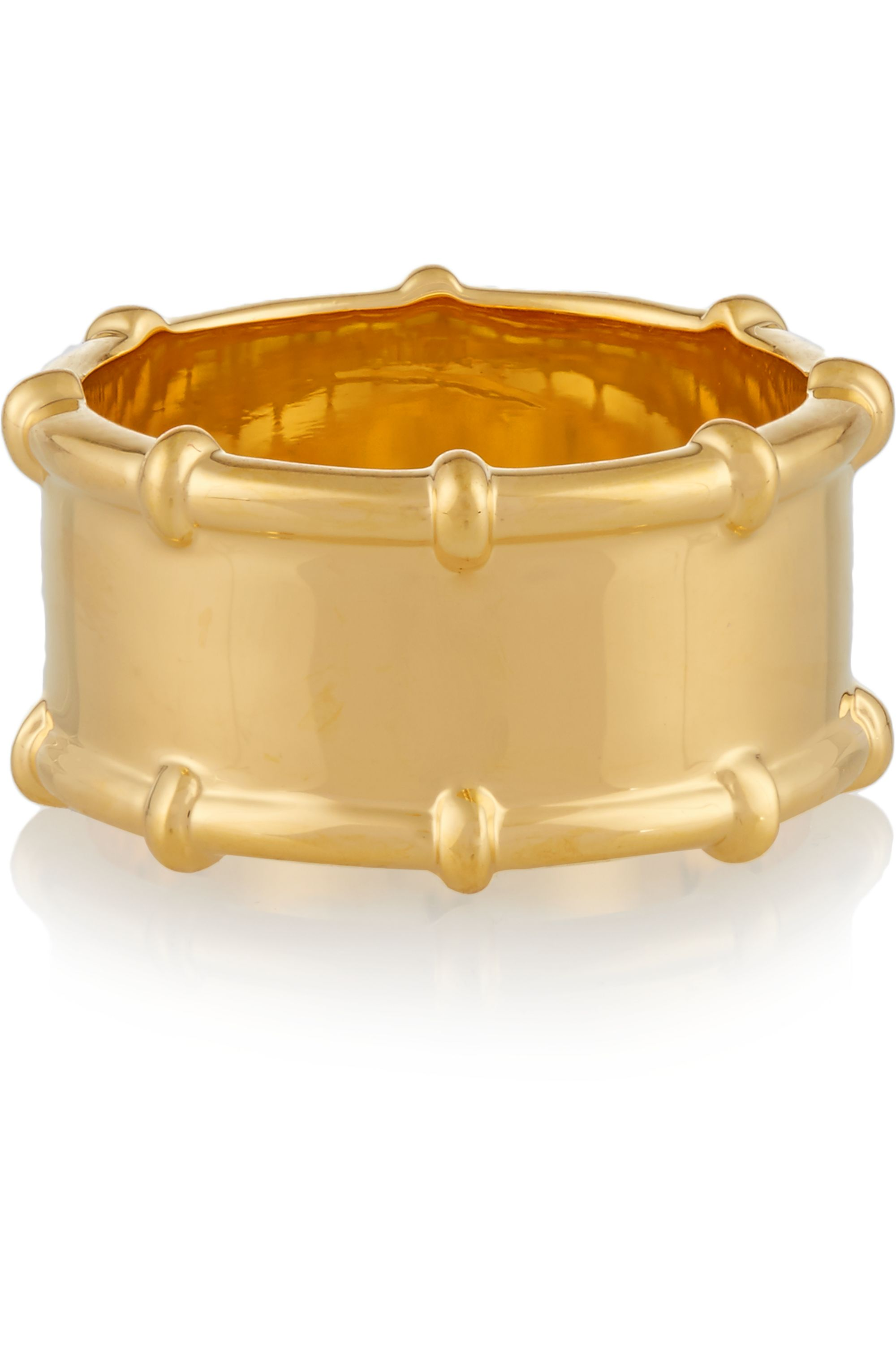 Arme De L'Amour Bamboo gold-plated ring