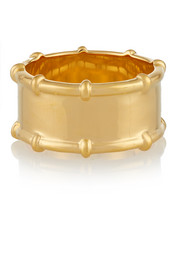 Bamboo gold-plated ring