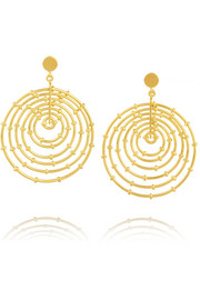 Bamboo gold-plated hoop earrings