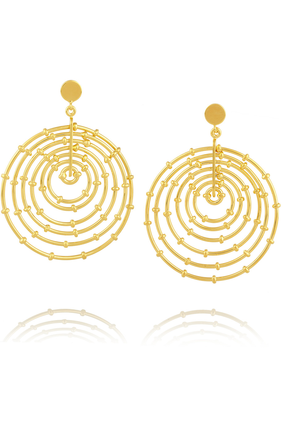 Arme De L'amour Bamboo Gold-Plated Hoop Earrings, Women's