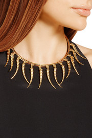 Dangling Horn gold-plated choker
