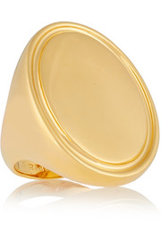 Oval Signet gold-plated ring