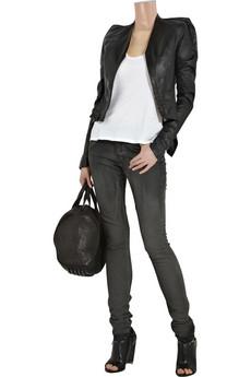 Rick OwensAngular leather jacket