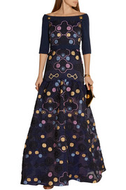 Peter Pilotto Cora off-the-shoulder matelassé gown