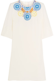 Athena embroidered crepe tunic