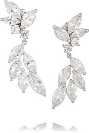 Kenneth Jay Lane Rhodium-plated cubic zirconia earrings