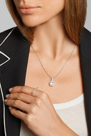 Kenneth Jay Lane Rhodium-plated cubic zirconia necklace