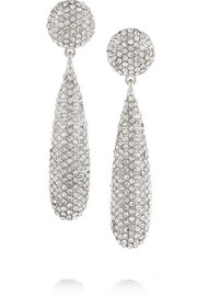 Rhodium-plated crystal earrings