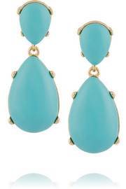 Kenneth Jay Lane Gold-plated resin earrings