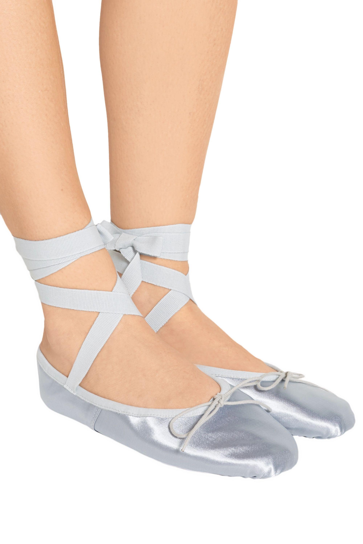 Ballet Beautiful Metallic satin ballet slippers