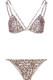 Zimmermann Henna printed triangle bikini