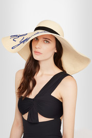 Sunny sequined straw sunhat