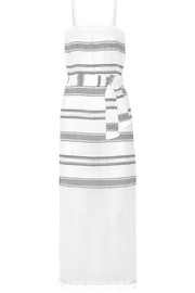LemLem Addis striped cotton-blend gauze dress