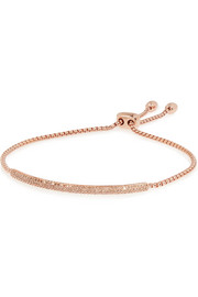 Monica Vinader Stellar Pave Mini Bar rose gold-plated diamond bracelet