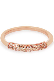 Stellar rose gold-plated diamond ring