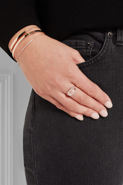 Vega rose gold-plated, diamond and rock crystal ring