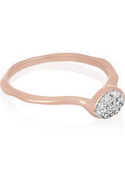 Monica Vinader Siren rose gold-plated diamond ring