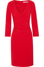Eliana ruched stretch-crepe dress