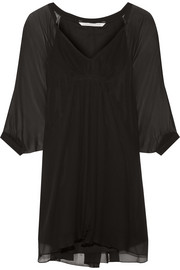 Fleurette silk-chiffon mini dress