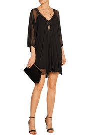 Diane von Furstenberg Fleurette silk-chiffon mini dress