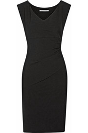 Bevin ruched stretch-crepe dress