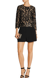 Diane von Furstenberg Belle sequin-embellished lace top