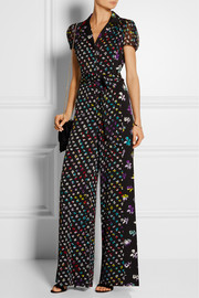 Diane von Furstenberg Caterina printed stretch-silk jumpsuit