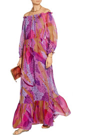Camila printed silk-chiffon maxi dress
