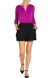 Diane von Furstenberg Meadow pleated silk blouse