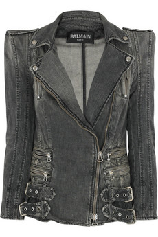 Balmain | Faded denim jacket | NET-A-PORTER.COM