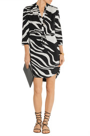 Diane von Furstenberg Freya zebra-print stretch-silk dress