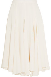 Fluted crepe skirt