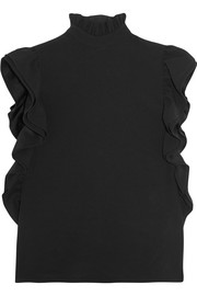 Ruffled crepe top