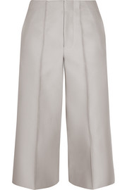 Cropped faille wide-leg pants