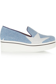 Stella McCartney Denim platform slip-on sneakers