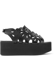 Stella McCartney Cutout faux leather platform sandals