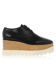Faux leather platform brogues