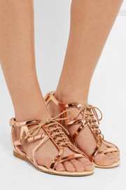 Stella McCartney Metallic faux patent-leather sandals