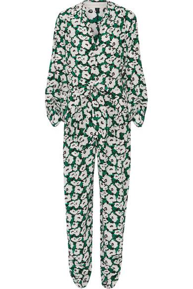 28fcee0a7d003 Stella McCartney | Monia floral-print silk-crepe jumpsuit | NET-A ...